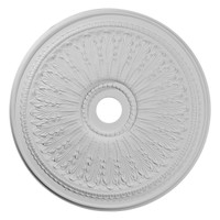 """29 1/8""""OD x 3 5/8""""ID x 1""""P Oakleaf Ceiling Medallion (Fits Canopies up to 6 1/4"""")"""