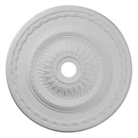 """29 1/2""""OD x 3 5/8""""ID x 1 5/8""""P Sunflower Ceiling Medallion (Fits Canopies up to 5 5/8"""")"""