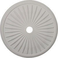"""33 1/8""""OD x 3 1/2""""ID x 1 3/8""""P Leandros Ceiling Medallion (Fits Canopies up to 5"""")"""