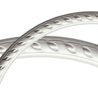 "26 3/4""OD x 23 1/2""ID x 1 5/8""W x 3/4""P Medway Ceiling Ring (1/4 of complete circle)"