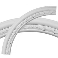 "36""OD x 29 1/2""ID x 3 1/4""W x 1""P Watford Ceiling Ring (1/4 of complete circle)"