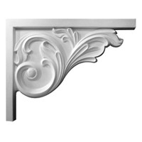 "8 3/4""W x 7 5/8""H x 5/8""D Bremen Acanthus Stair Bracket, Right"