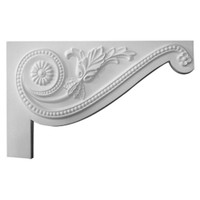 """11""""W x 7""""H x 5/8""""D Large Pearl Stair Bracket, Right"""