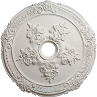 """26""""OD x 1 1/2""""P Attica with Rose Ceiling Medallion (Fits Canopies up to 4 1/2"""")"""