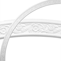 """74 3/4""""OD x 68 1/2""""ID x 3 1/8""""W x 1/2""""P Medway Floral Ceiling Ring (1/4 of complete circle)"""