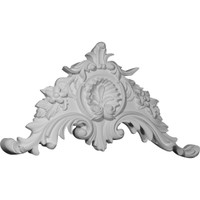 """28 3/4""""W x 15 1/8""""H x 2 7/8""""P Large Shell Center with Scrolls"""