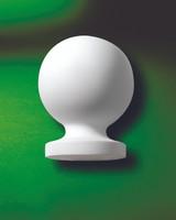 B5X7____NEWEL POST BALL 6-3/4X5-1/4X5-1/4