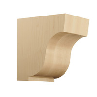 "CRV7046WO_7 1/2"" Medium Simplicity Corbel White Oak"