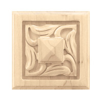 "CRV7078WA_3"" Sq Small Nouveau Rosette Walnut"