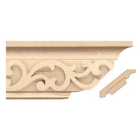 "MLD7026MA_4 1/4"" Crown Moulding w/Baroque Insert"