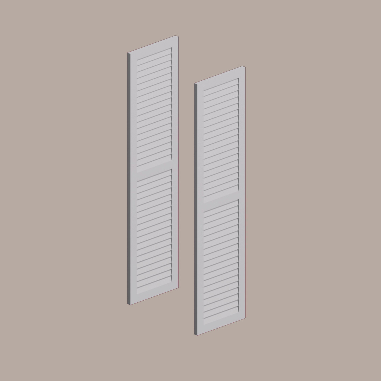 Fypon shutter___LVSH24X66FNCR___SHUTTER LOUVERED W/ CENTER RAIL 24X66X1 SMOOTH