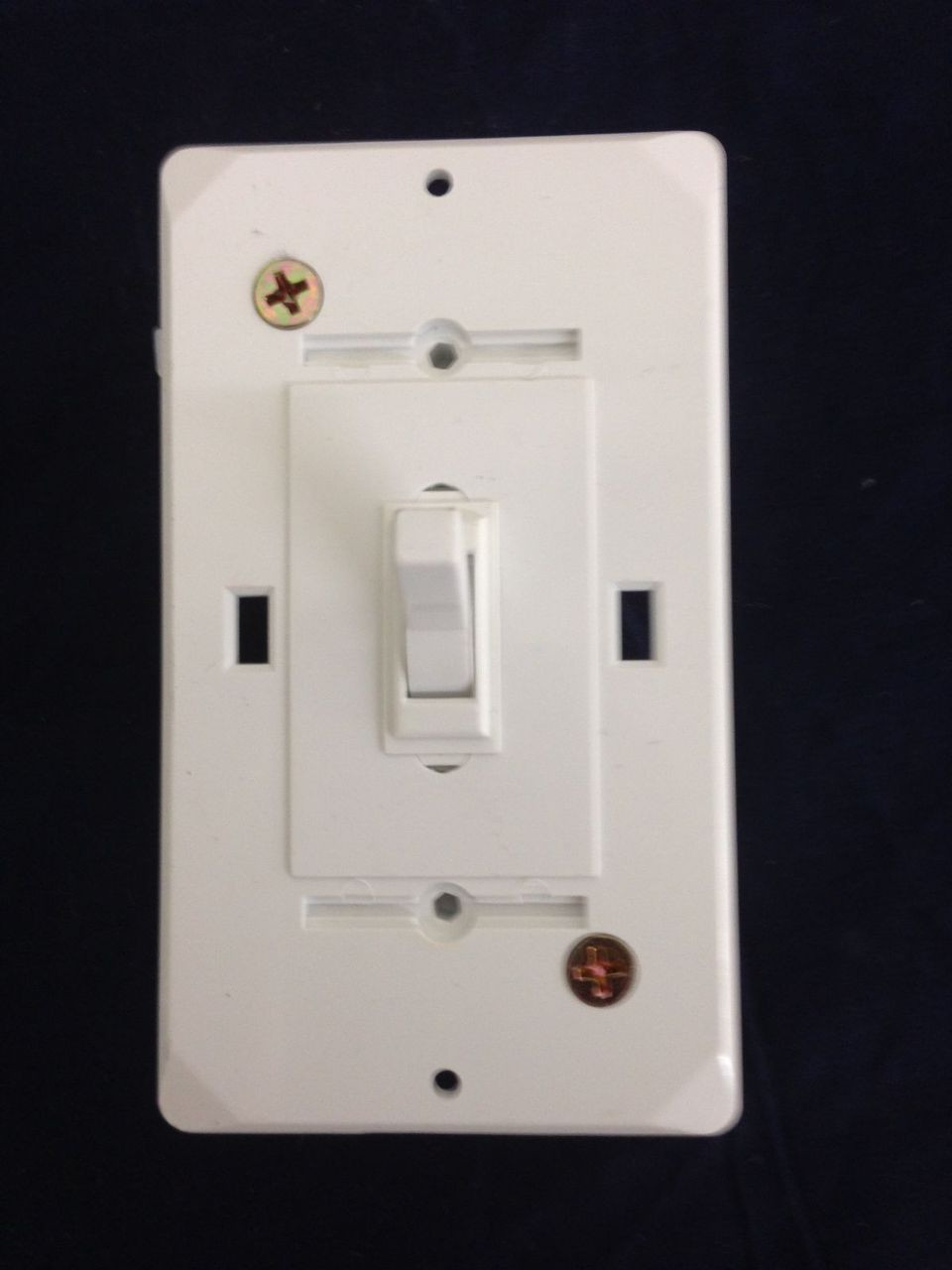 Mobile Home Self Contained Toggle Switch With Cover Plate