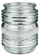 """6"""" Globe Clear Glass Jelly Jar Style"""