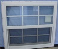 Kinro Series 9750 Vinyl Double Pane Single Hung Window (With Grids)