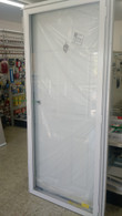 """7660 Series Kinro Six Panel House Type Steel Door With All Glass Storm Size 36""""X76"""""""