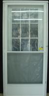 "7660  Series Kinro Cottage Window House Type Steel Door With Standard Storm Size 34""X80"""