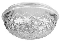 "9"" Globe Etched Diamond Glass"