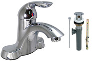 "4"" Chrome Single Handle Hybrid, Tall Bathroom Faucet (With Pop up)  Phoenix Brand"