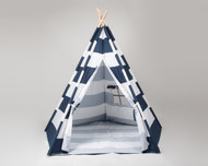 Stellavolta TP5P-BLS KIDS Teepee Large 6 FT 5-Pole, Navy Blue Stripes