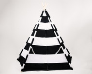 Stellavolta TP5P-BKS KIDS Teepee Large 5-Pole, Jet Black Stripes