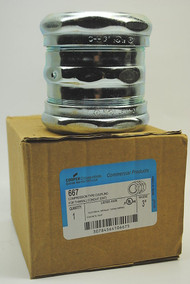 Cooper C-H 667 Compression Type Coupling 3 Inch for Thinwall Conduit