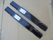 """Mulching Blades for MTD 42"""" Cut 742-0616, 742-0616A, 742-616A, 942-0616, 942-0616X, 942-0616A, 942-616, 942-616A, Made In USA, Toothed mulcher"""