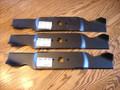 """Mulching Blades for Cub Cadet 54"""" Cut, GT1054, GT1554, GT2000, GT2100, GTX1054, GTX2100, I1042, I1046, I1050, LGT1050, LGT1054, LGTX1050, 742-0677, 742-0677A, 742-0677B, 942-0677, 942-0677A, 942-0677B, Mulcher"""