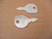 Indak Ignition Starter Switch Keys for John Deere M40718 key