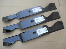 """Blades for Poulan 54"""" Cut 532187256, 539112053, 574292401, 575938401, 777187256, Hi Lift, Made In USA"""