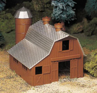 Dairy Barn Plasticville USA Building Kit O Scale