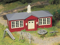 School House Plasticville USA Kit O Scale