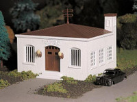 Police Station w/Police Car Plasticville USA Kit O scale