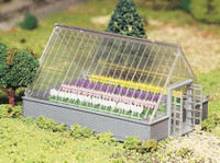 Greenhouse w/Flowers Plasticville USA Building Kit O Scale