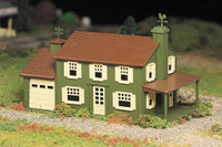 Two-Story House Plasticville USA Building Kit O Scale