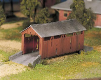 Covered Bridge Plasticville USA Building Kit O Scale