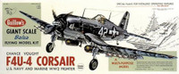 F4U-4 Corsair Balsa Model Airplane Guillows