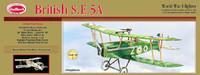 British SE5A Balsa Model Airplane Guillows