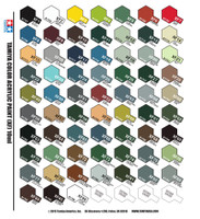Complete Tamiya Flat Color Set 66 Bottles in All