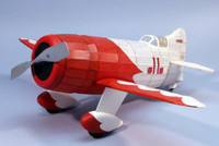 Gee Bee R1 Racer Rubber Pwd Wooden Model Airplane Dumas