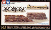 Brick Wall Sand Bag and Barricade Set 1/48 Tamiya
