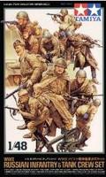 Russian Infantry 12 and Tank Crew Set 2 1/48 Tamiya