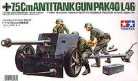 German 7.5 Cm Anti-Tank Gun PaK 40 1/35 Tamiya