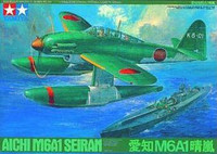 Aichi M6A1 Seiran Floatplane with Dolly 1/48 Tamiya