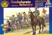 Confederate Infantry Figures 1/72 Italeri