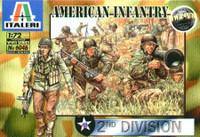 American Infantry 2nd Division Figures 1/72 Italeri