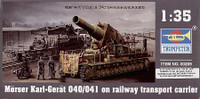 Morser Karl-Gerat 040-041 on Railway Transport 1/35 Trumpeter