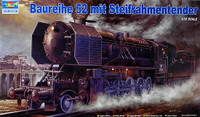 Bauriehe BR 52 Steam Locomotive with Tender 1/35 Trumpeter