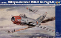 Mig15 Bis Fagot B Fighter Model Kit 1/48 Trumpeter