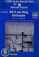 SH-3H Sea King Helicopter Set for USS Nimitz 6-Box 1/350 Trumpeter