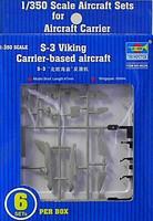 S-3B Viking Aircraft Set for USS Nimitz 6-Box 1/350 Trumpeter
